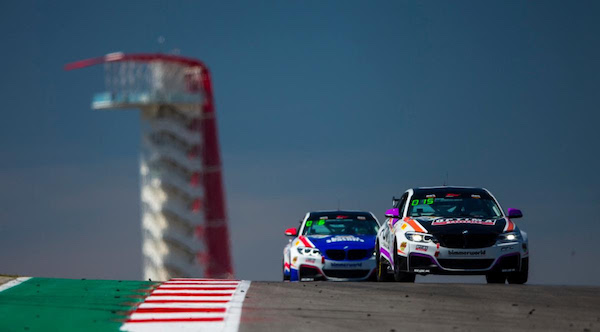 The two BimmerWorld SRO BMW M240i Racing cars at CoTA
