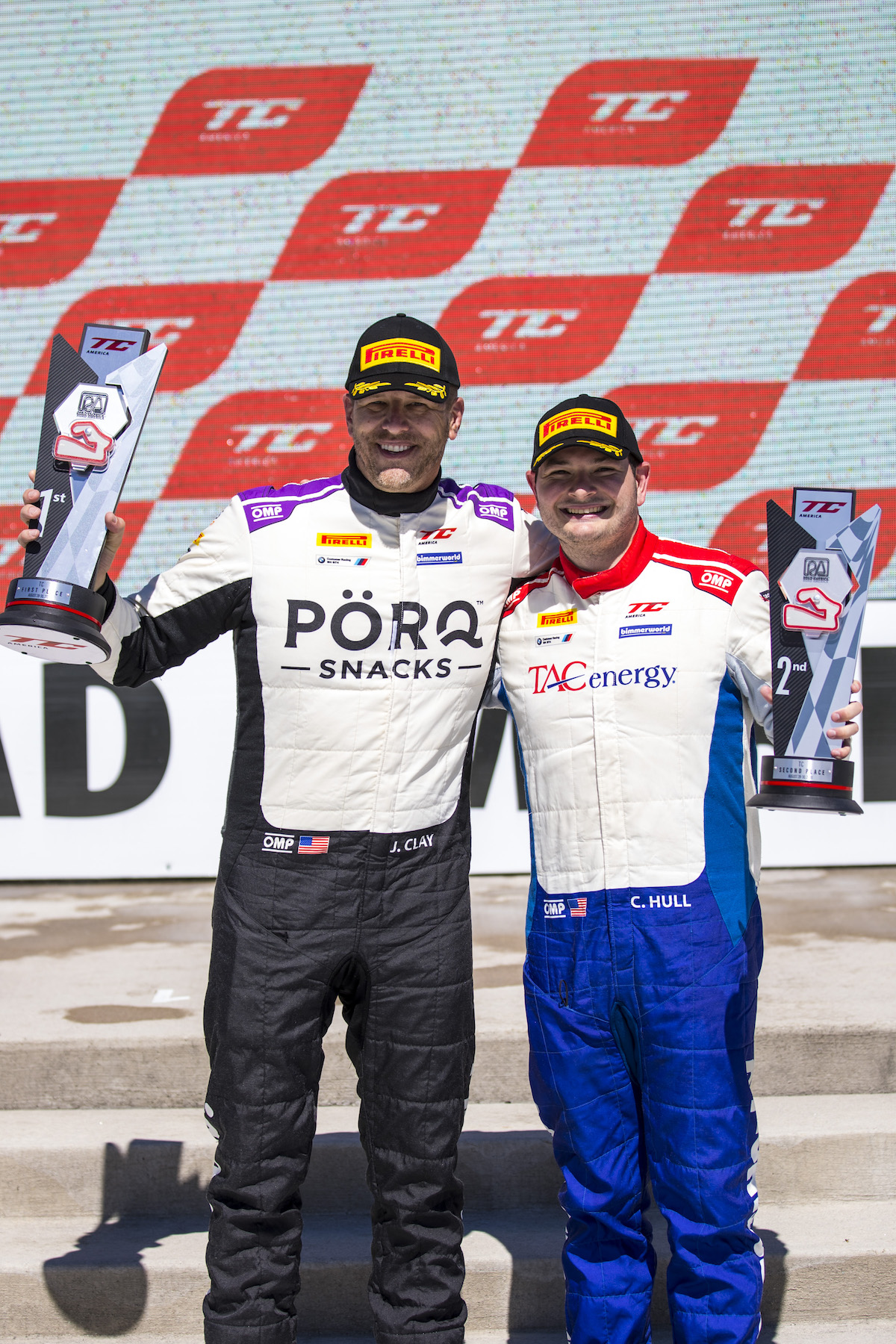 James Clay and Chandler Hull on the podium with first and second at Road America