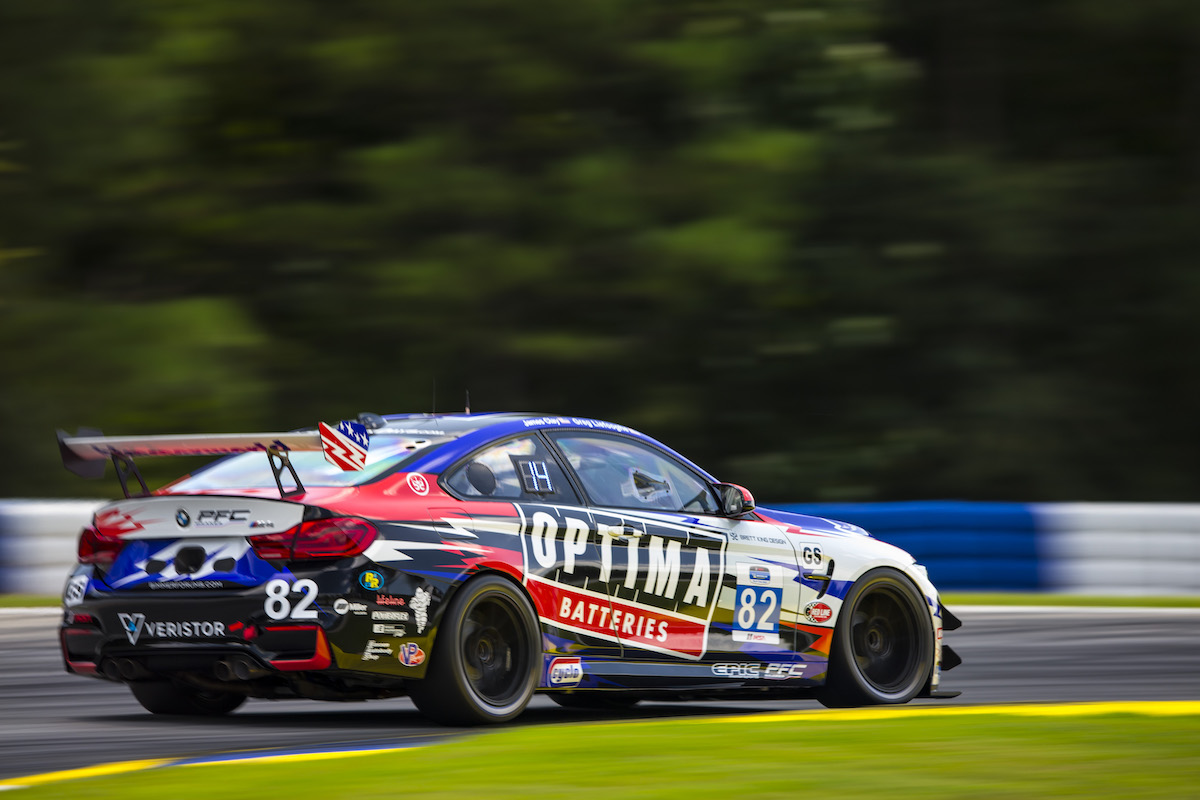No. 82 OPTIMA M4 GT4 at Road Atlanta