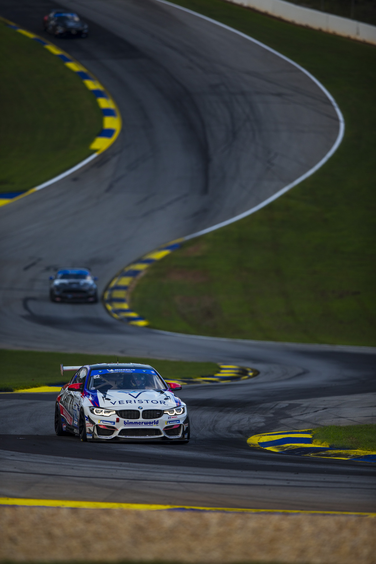 BimmerWorld No. 82 down the esses at Road Atlanta