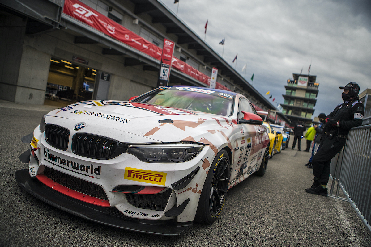 BimmerWorld Red Line Oil BMW M4 GT4 ready for racing at Indy endurance race