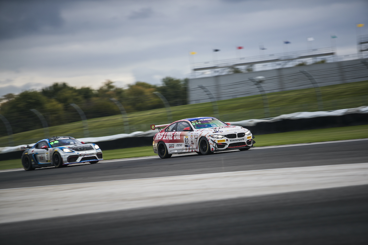 Red Line Oil M4 GT4 leading at Indy