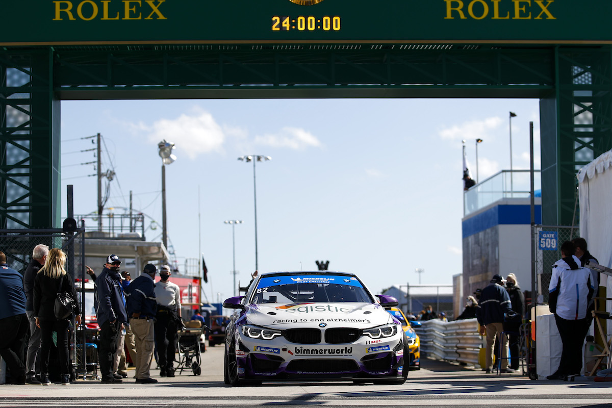 BMW M4 GT4 ready to roll out BimmerWorld Racing - IMSA Michelin Pilot Challenge - Daytona International Speedway