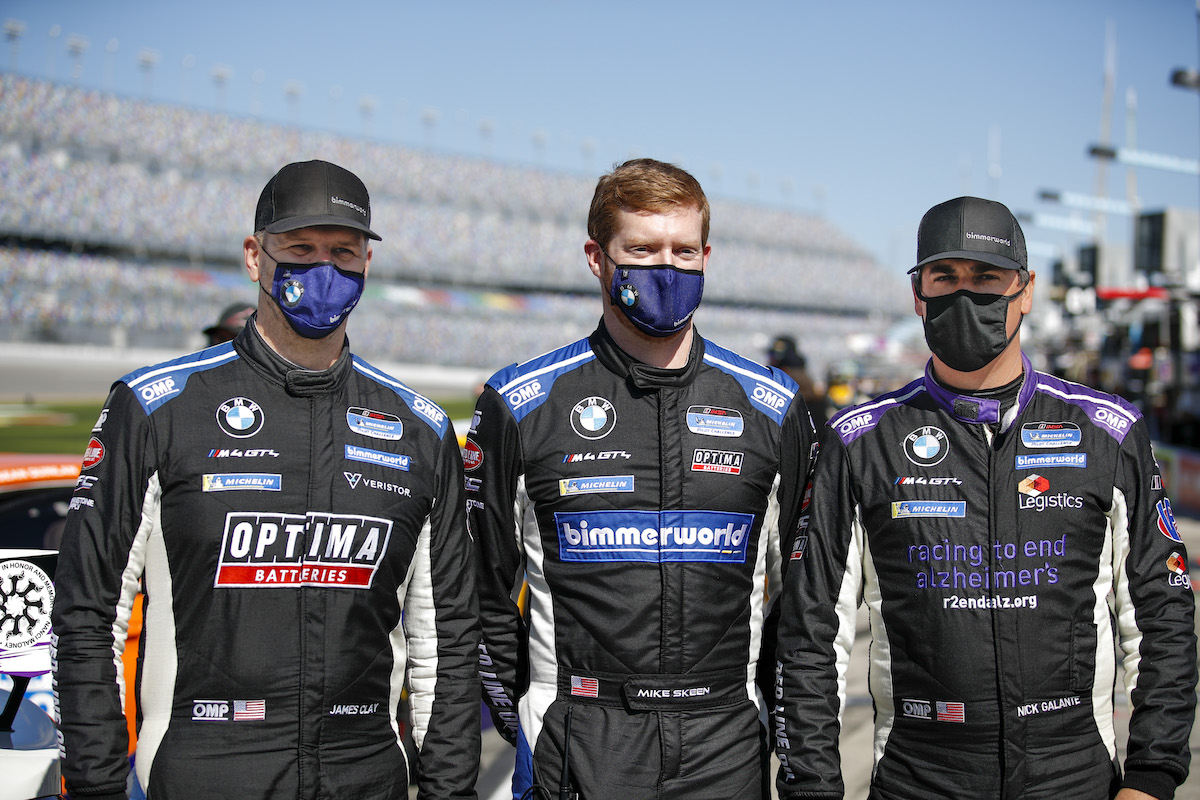 James Clay, Mike Skeen, Nick Galante BimmerWorld Racing - IMSA Michelin Pilot Challenge - Daytona International Speedway