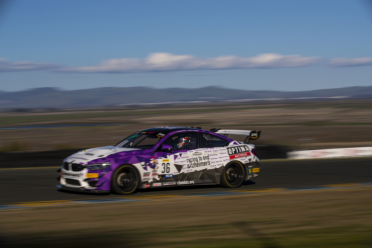 Racing to End Alzheimer's / OPTIMA Batteries M4 GT4 at speed