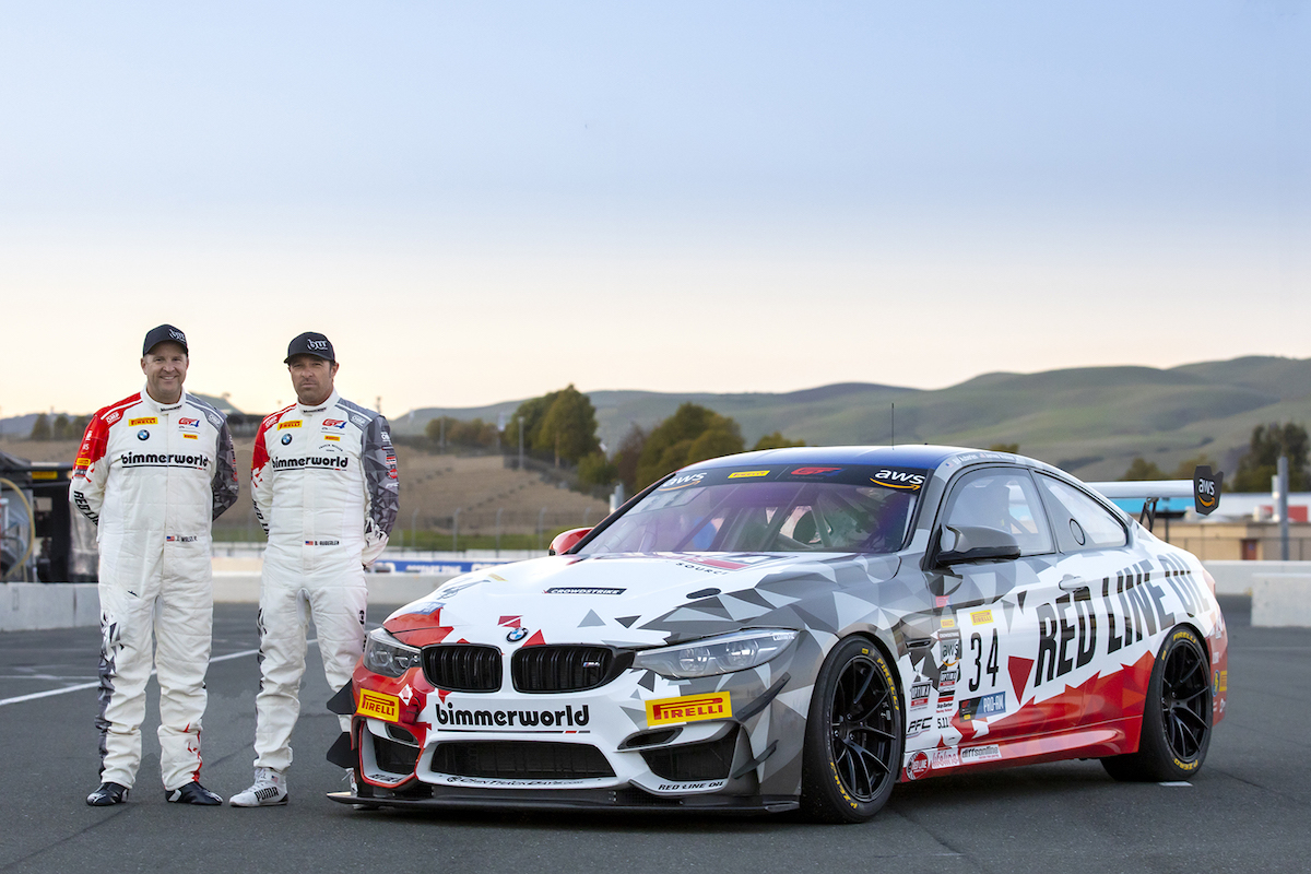 Walker, Jr. and Auberlen with new-livery M4 GT4
