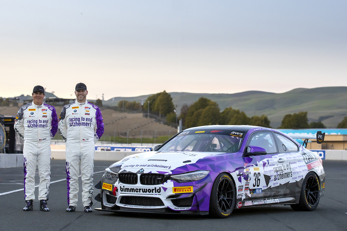 Galante and Clay with new-livery M4 GT4
