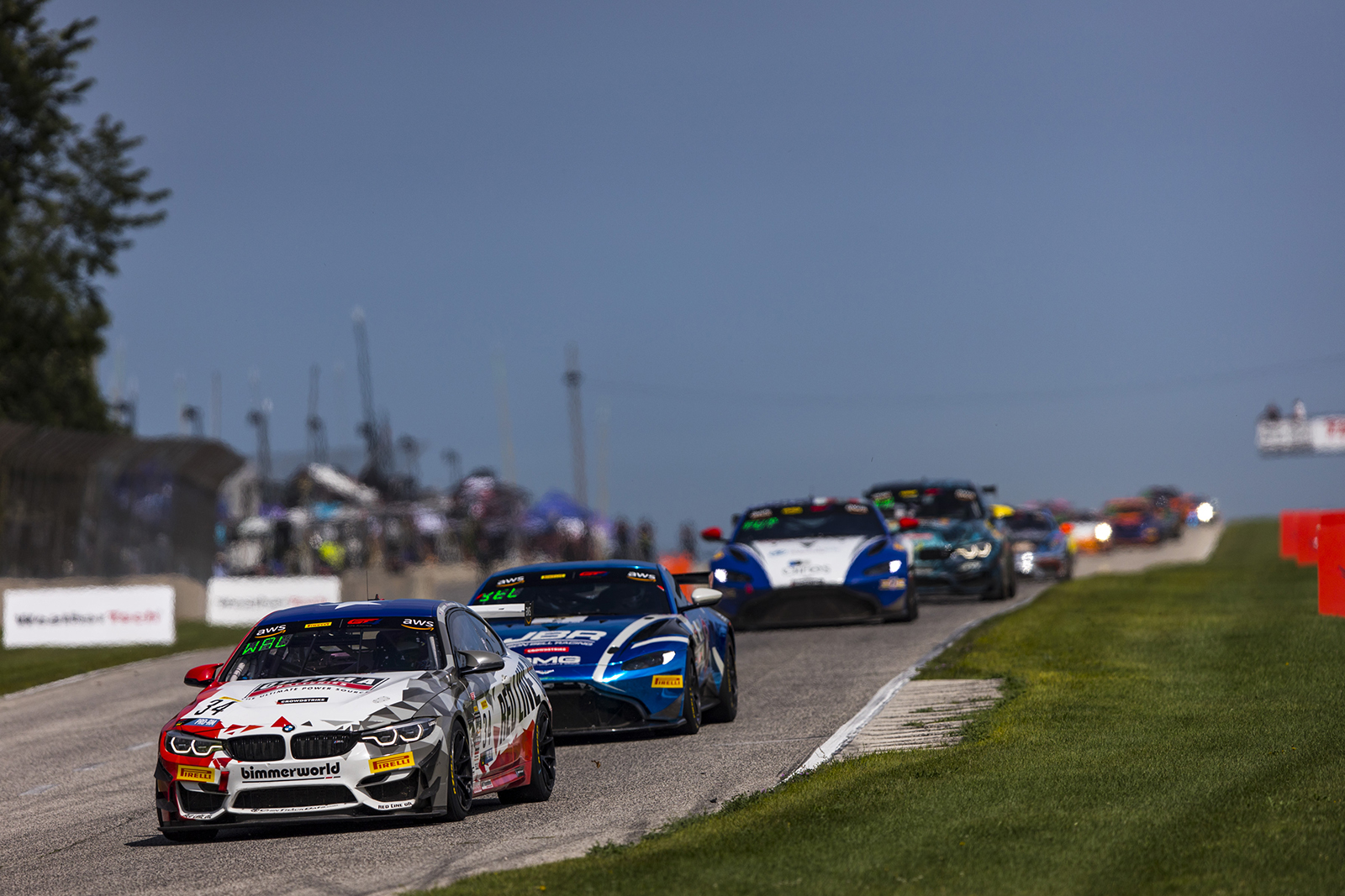 BimmerWorld M4 GT4 leading the pack at Road America