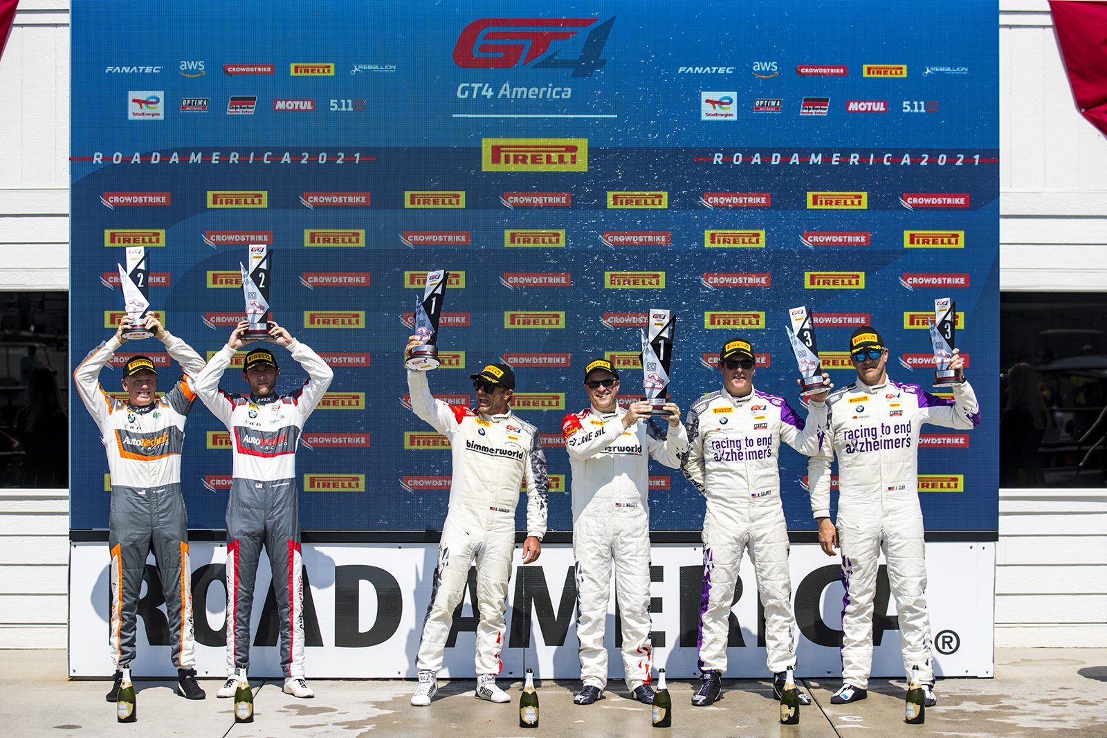 BimmerWorld drivers on the podium at Road America in first and third