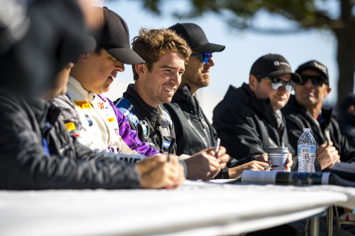 BWR driver interviews at table